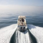 Speedboat from behind image