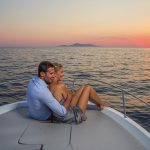 Couple on boat image